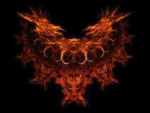 Devils. Abstract fractal background Stock Photos