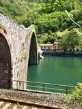 Devils Bridge, Countryside of Italy Stock Photo