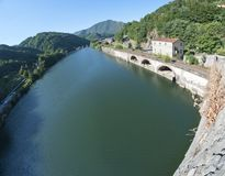 Devils Bridge Fisheye View, Lucca Royalty Free Stock Photo