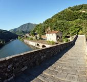 Devils Bridge Fisheye View, Lucca Royalty Free Stock Photography