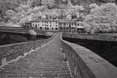 Devils Bridge, Garfagnana, Italy Stock Image