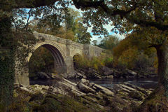 Devils bridge at kirkby lonsdale royalty free stock image