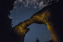 Devils Bridge under Sedona Starscape Stock Photography