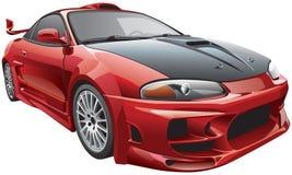 Devils car vector illustration