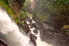 Devils Cauldron Waterfall, Ecuador Royalty Free Stock Photography