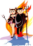 Devils Couple Royalty Free Stock Image