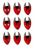 The devils faces Stock Photos