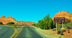 Devils garden, Arches national park Royalty Free Stock Photo