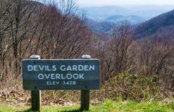 The Devils Garden Overlook – Elevation 3428 feet Royalty Free Stock Photos