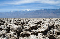 Devils golf course in Death Valley Stock Images