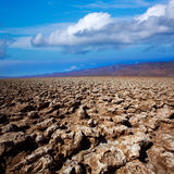 Devils golf course Death Valley salt clay formations Stock Images