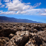 Devils golf course Death Valley salt clay formations Stock Photos