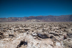 Devils Golf Course. Devil`s Golf Course salt flats, Death Badwater Valley National Park, California Stock Photos