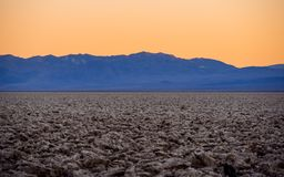 Devils Golf Couse at Death Valley at sunset. USA 2017 Stock Photo