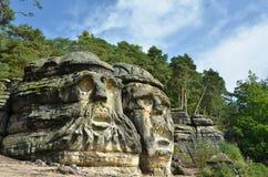 Devils heads. Near Melnik - Czech Republic Stock Images