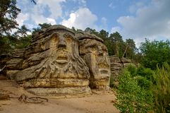 Devils heads - Zelizy. Near Melnik - Czech Republic stock photo