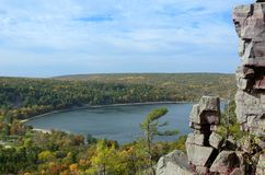 Devils Lake in the Fall Stock Photo