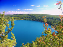 Devils Lake State Park Wisconsin. Beautiful view of Devils Lake State Park in Wisconsin stock image
