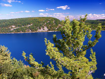 Devils Lake State Park Wisconsin. Devils Lake State Park is located near Wisconsin Dells and has spectacular scenery stock photography