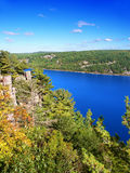 Devils Lake State Park Wisconsin. Devils Lake State Park is located near Wisconsin Dells and has spectacular scenery Stock Image