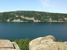 Devils lake royalty free stock image
