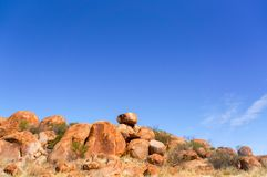 Devils Marbels national park, outback Australlia, northern territory stock photography