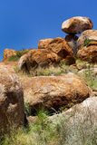 Devils Marbles. In Northern territory in Australia Royalty Free Stock Photo