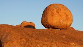 Devils marbles. Strange rock formation in Australia royalty free stock photography