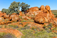 Devils Marbles, Australia. Royalty Free Stock Photos