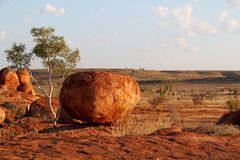 Devils Marbles ( Karlu Karlu ) Northern Territory, Australia Royalty Free Stock Photos