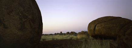 Devils marbles northern territory Royalty Free Stock Photos