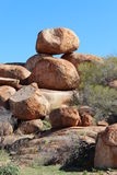 Devils Marbles in the Northern Territory of Australia Royalty Free Stock Photo