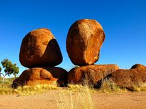 Devils Marbles, Nothern Territory, Australia Royalty Free Stock Photos