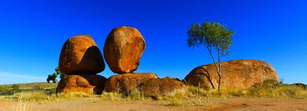Devils Marbles, Nothern Territory, Australia Royalty Free Stock Photography