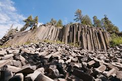 Devils Postpile stock photography