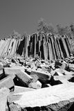 Devils Postpile columns and pile Stock Photos