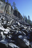Devils Postpile National Monument in California Stock Images