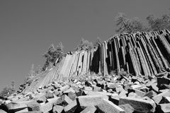 Devils Postpile panorama Stock Photography