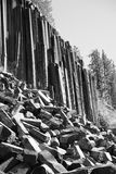 Devils Postpile sideways Royalty Free Stock Photo