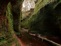 The Devils Pulpit. A natural gorge in Scotland stock photo