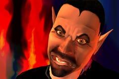Devils son. Illustration of the very shocking devils son Stock Photos