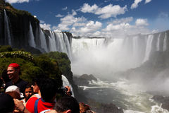 Devils Throat Foz do Iguassu Argentina Brazil Stock Photo