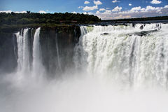 Devils Throat in Iguassu Falls Argentina Brazil Stock Photo