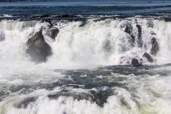 Devils Throat in Iguassu Falls Argentina Brazil stock photo