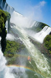 Devils Throat in Iguazu Falls. Iguazu Falls is one of the most visited places in Argentina and Brazil royalty free stock image