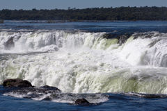 Devils Throat Waterfall Argentina and Brazil stock photo