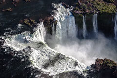 Devils Throat Waterfall Argentina and Brazil Stock Images
