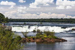 Devils Throat Waterfall Argentina and Brazil Royalty Free Stock Image