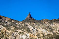 Devils Tooth , in the Cordilheira Real of La Paz, Bolivia. Stock Photo