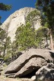 Devils Tower. National Monument in Wyoming Royalty Free Stock Photo